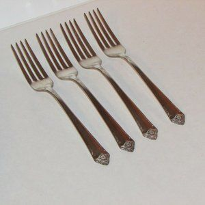 STARLIGHT VINTAGE SILVERPLATE DINNER FORKS 1950